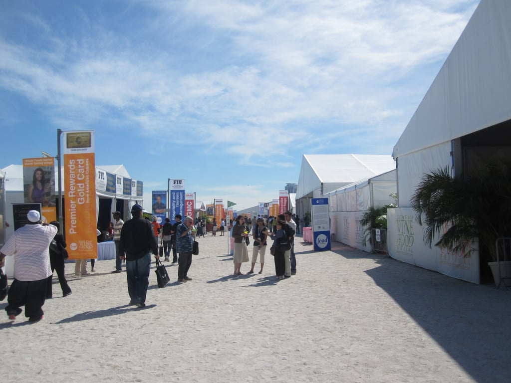 Everything at the festival is lined up in a long row. At the very end are the tasting tents.