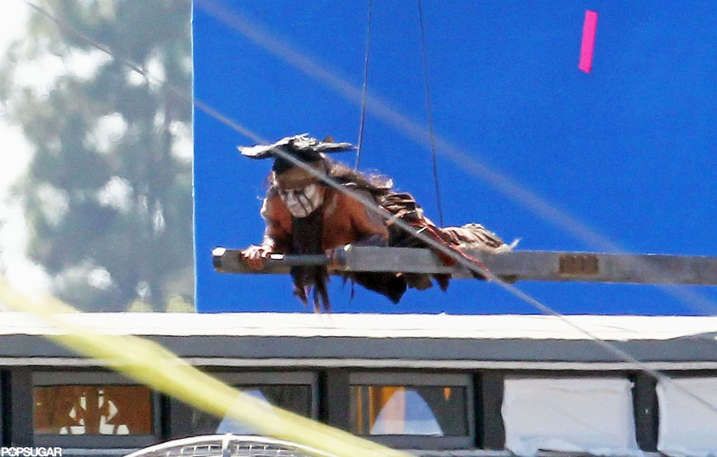 Johnny Depp got into character as Tonto.