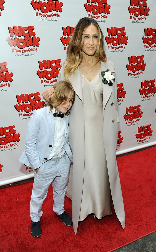 SJP coordinated with her son, James, in muted monochrome ensembles at the Broadway opening of Nice Work If You Can Get It in April 2012.