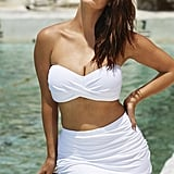 Swimsuits For All Valentine White Sand Shirred Bikini