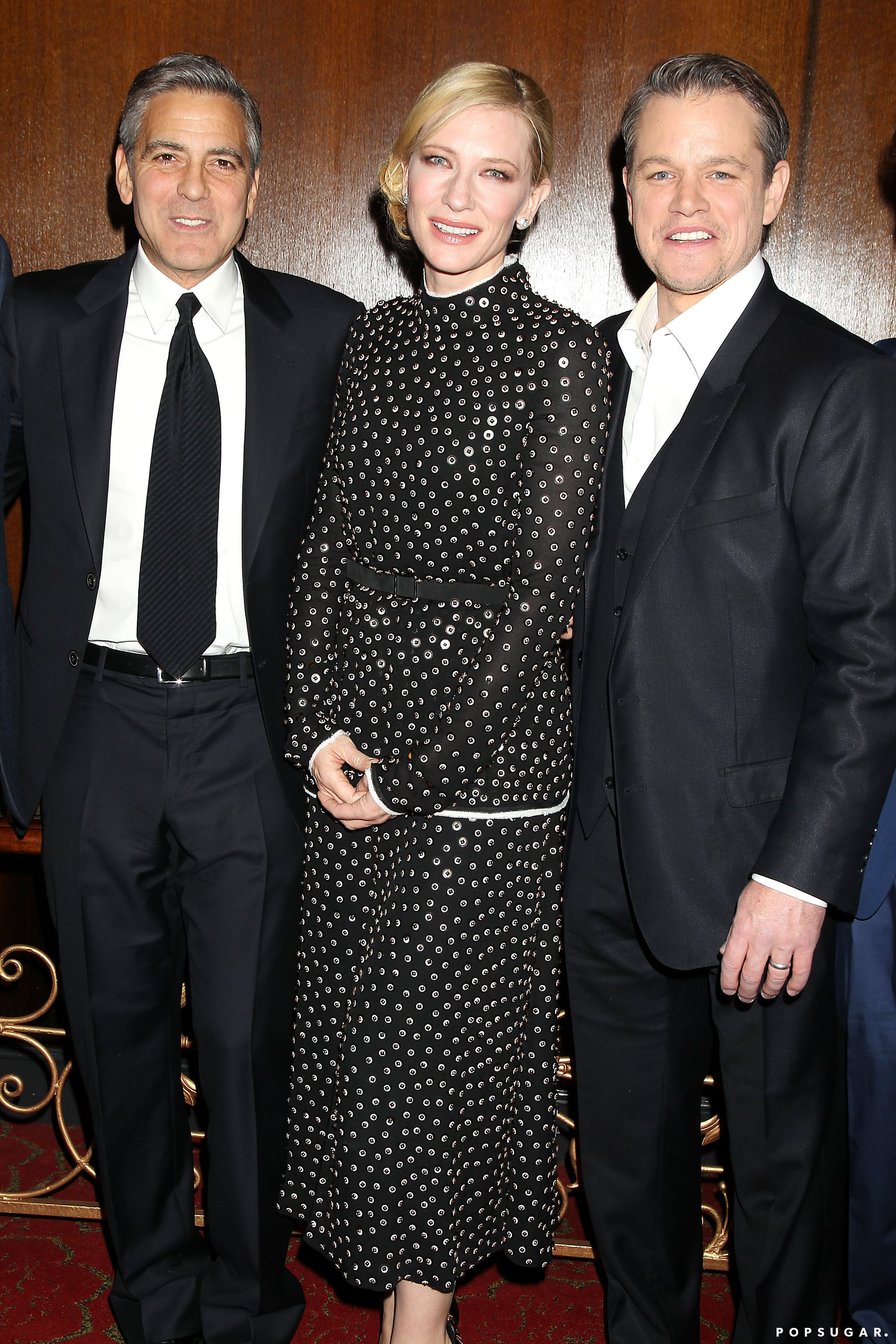 George, Cate, and Matt posed for photos together.