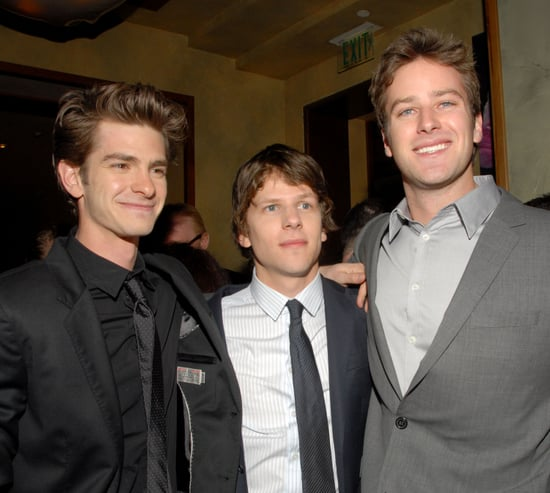 Pictures of Armie Hammer, Jesse Eisenberg, and Andrew Garfield at the DVD Launch Party for the Social Network 2011-01-07 07:38:15