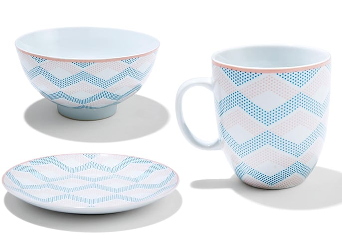 Kmart Porcelain Chevron Pattern Dinner Set, $2.50 each