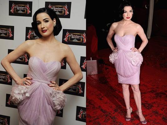 Dita Von Teese in Pink Marchesa Dress