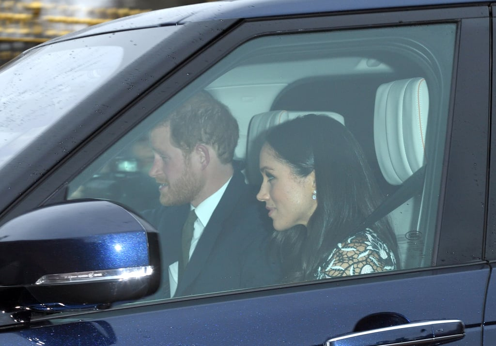 Prince Harry and Meghan Markle got a head start on their holiday festivities when they attended Queen Elizabeth II's annual Christmas lunch at Buckingham Palace on Wednesday. The couple, who are set to tie the knot in May 2018, were joined by more than 50 members of the British royal family, including Kate Middleton, Prince William, Princess Charlotte, Prince George, Prince Charles, and Camilla, Duchess of Cornwall. Harry was spotted driving a blue Land Rover Discovery in a black suit, while Meghan sat in the passenger seat and looked gorgeous in a lace dress and shiny lip gloss.  In addition to being the queen's annual luncheon, the event is particularly special for Meghan as it is believed to be the first time she is meeting a large part of the extended royal family. The former Suits actress is also expected to attend all of the queen's upcoming holiday events at Sandringham Estate, which is a big deal given that Meghan will be the first royal fiancée to spend Christmas with the royal family. The holidays truly are the most wonderful time of the year.