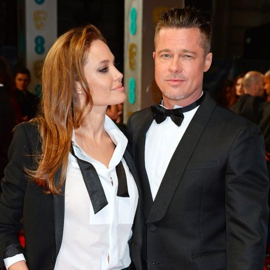 Angelina Jolie and Brad Pitt at the BAFTA Awards 2014