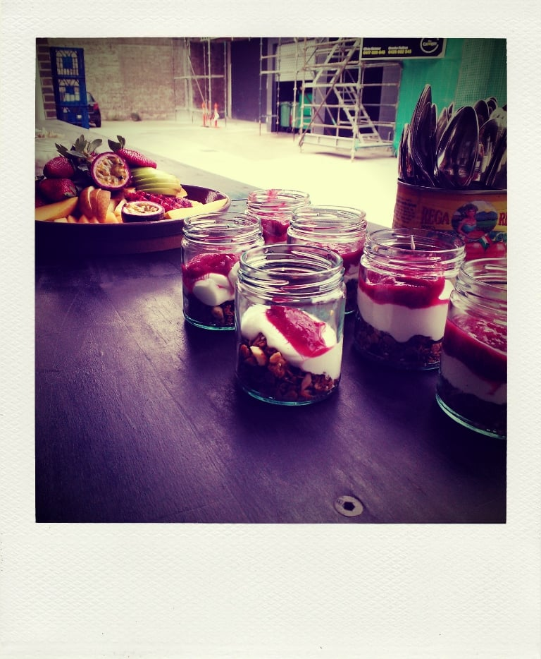 And was momentarily distracted by the breakfast spread put on at Kitchen by Mike. . .