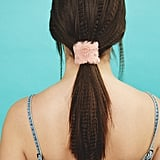 Look No. 3: Low Ponytail With Crimped Hair