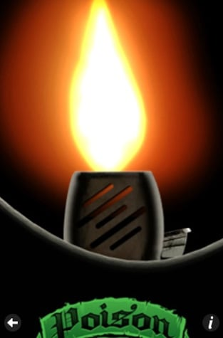 Free Poison Virtual Concert Lighter iPhone App