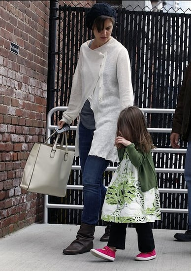 Katie and Suri out and about in Boston