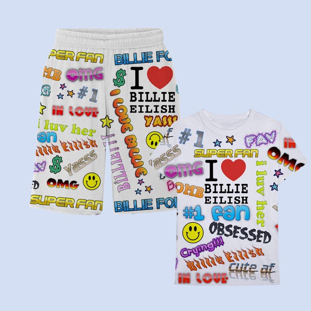 Super Fan All Over Print T-Shirt/Shorts Set