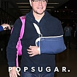 Matt walked through LAX with a smile.