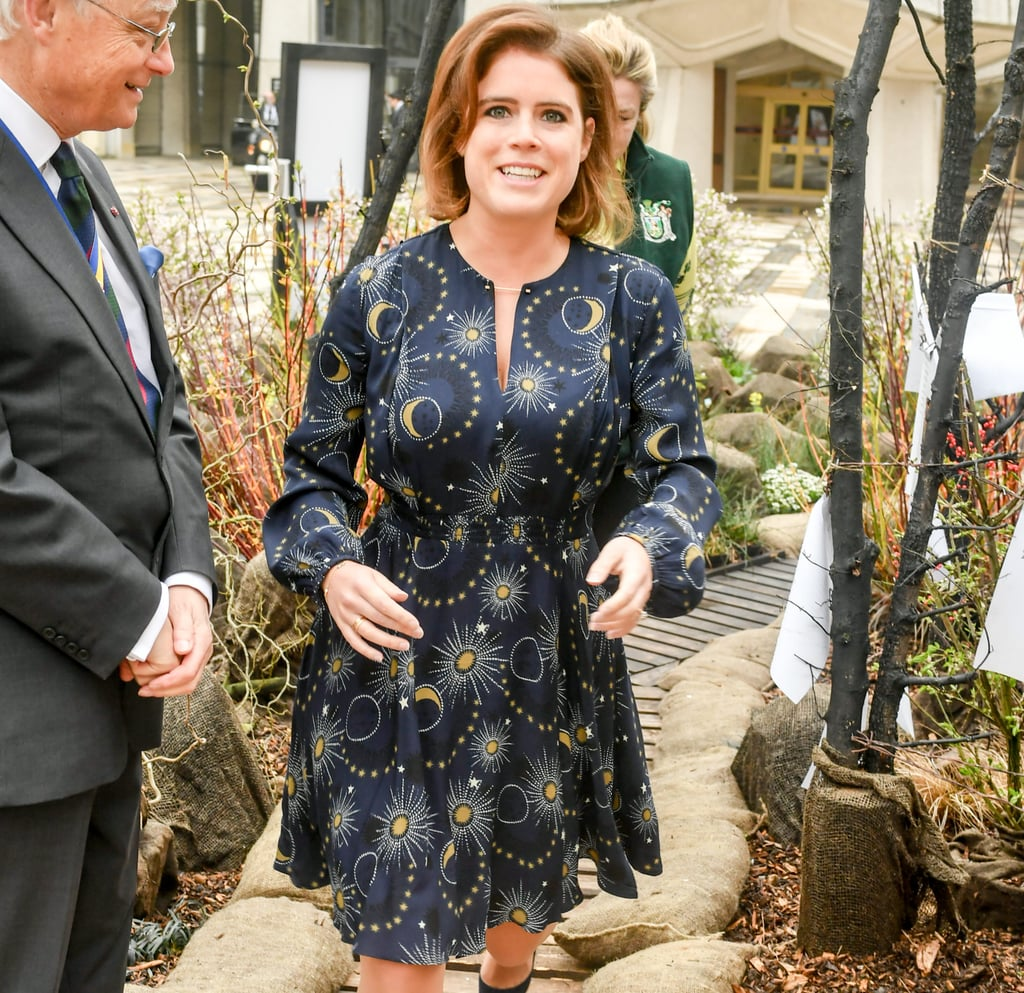 Princess Eugenie Star Print Dress