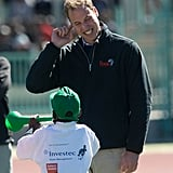 We can't get enough of this shot — Prince William adorably pretended to cover his ears while a little boy played the vuvuzela during a June 2010 visit to a sports stadium in Botswana.