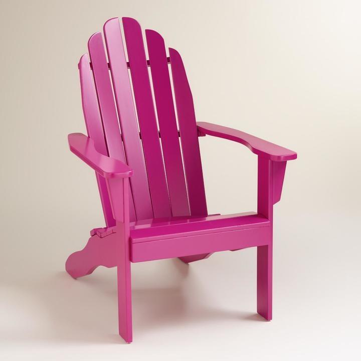 Fuchsia Adirondack Chair ($130)