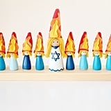 Customized Hanukkah Kid-Friendly Menorah