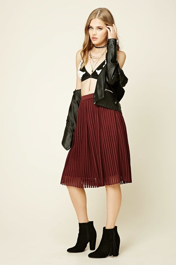A Midi Skirt That's Anything but Boring