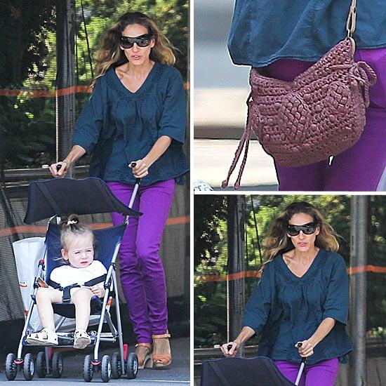 Sarah Jessica Parker Wearing Purple Jeans