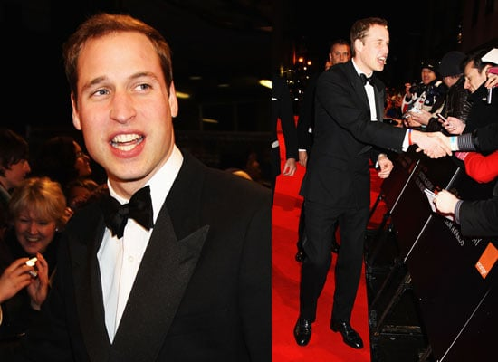 Photos of Prince William at the BAFTAs Red Carpet 2010