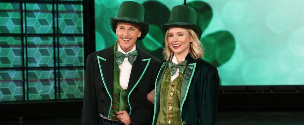 Kristen Bell and Ellen DeGeneres Play Heads Up Dressed Like Leprechauns
