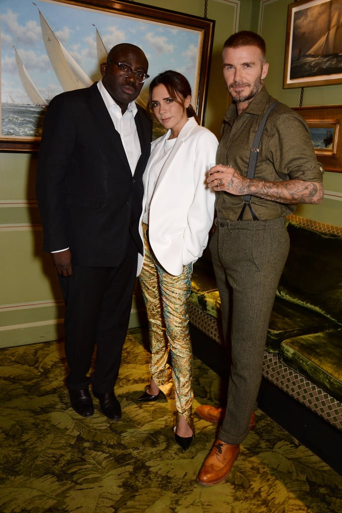 Victoria Beckham's Gold Trousers September 2018