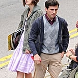 Keira Knightley, Steve Carell, and a Furry Costar Get to Work on Their Friendly New Project