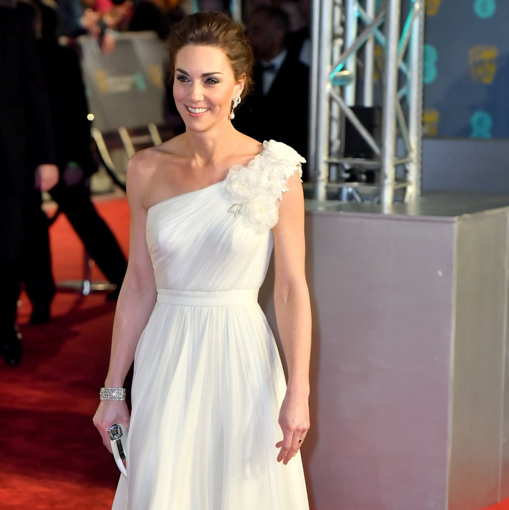 kate middletons white dress at the bafta awards 2019
