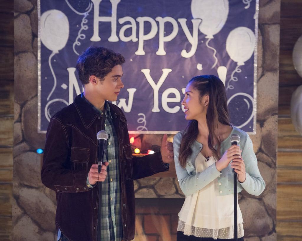 Joshua Bassett and Olivia Rodrigo on High School Musical: The Musical: The Series