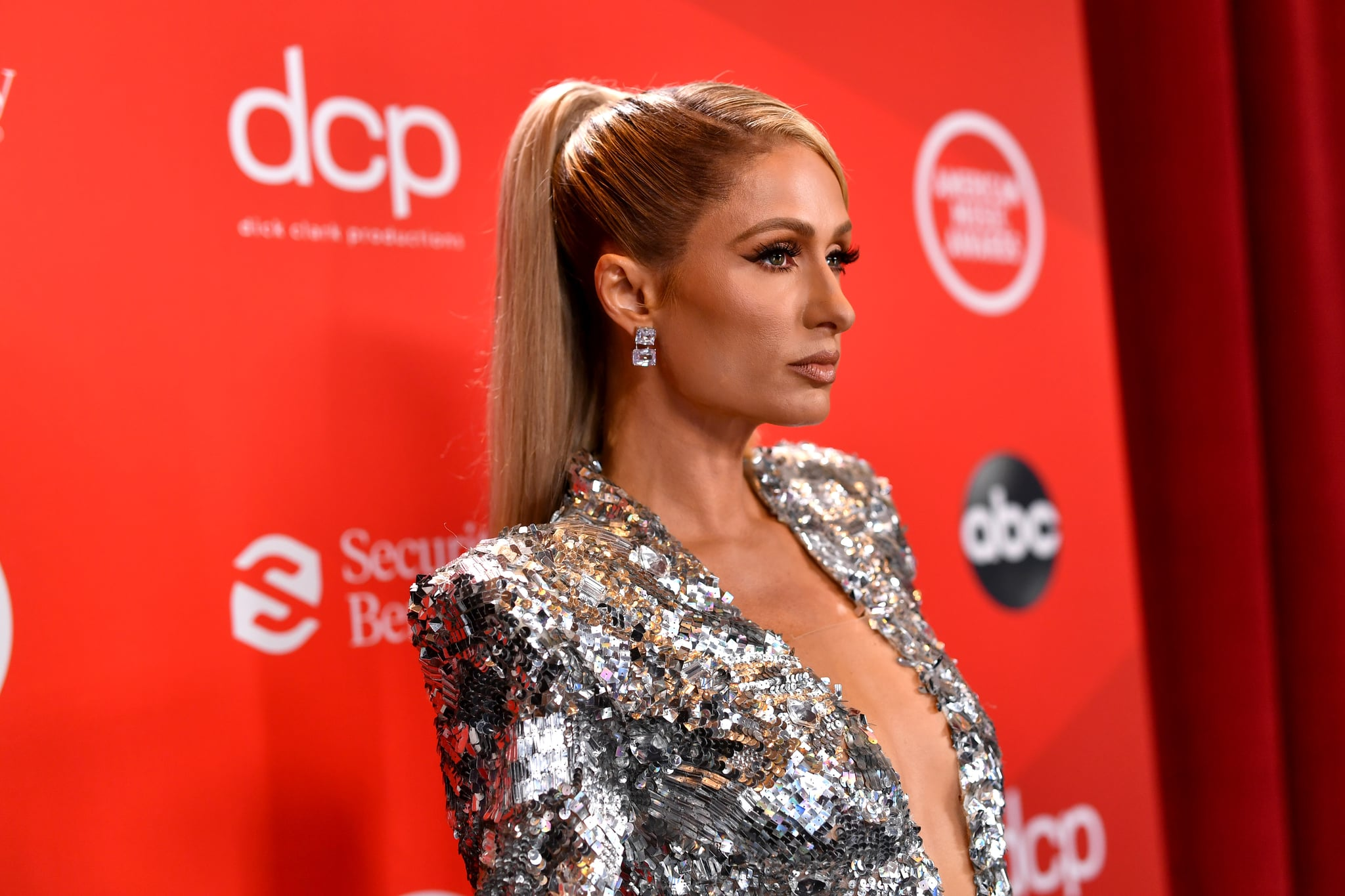 LOS ANGELES, CALIFORNIA - NOVEMBER 22: In this image released on November 22, Paris Hilton attends the 2020 American Music Awards at Microsoft Theater on November 22, 2020 in Los Angeles, California. (Photo by Emma McIntyre /AMA2020/Getty Images for dcp)