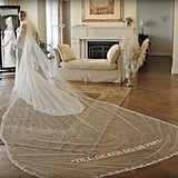 Hailey Baldwin's Off-White Wedding Dress, 2019
