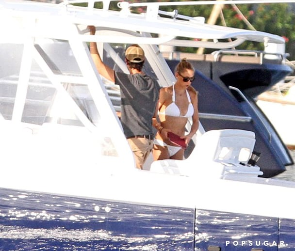 Anna Kournikova wore a bikini during a boat trip with Enrique Iglesias in Miami in June.