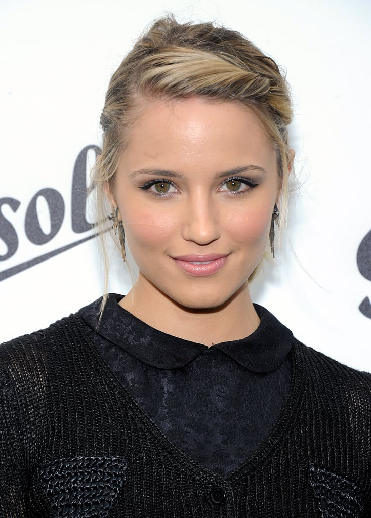 No matter your hair type, adding a deep side twist à la Dianna Agron will instantly update your look. Finish by pulling your hair back, like Dianna did, or you could just leave your hair down, too. It's a quick fix that will take your hair from drab to fab.