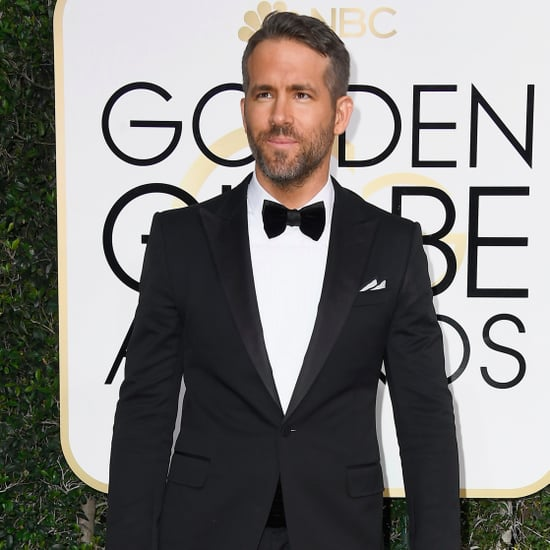 Ryan Reynolds and Andrew Garfield Kiss at 2017 Golden Globes