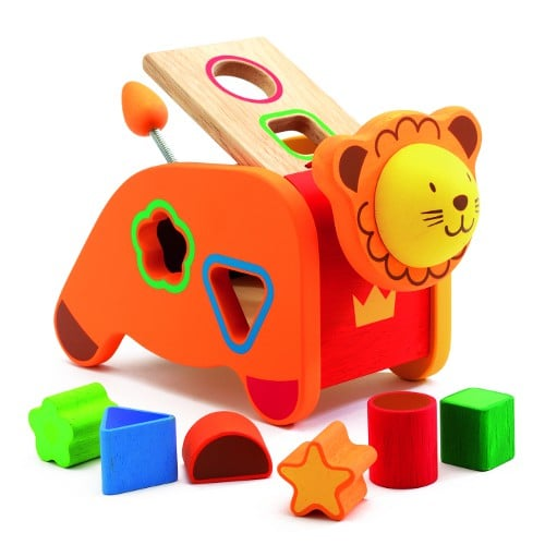 Djeco Geo Lion Shape Sorting Box ($41)