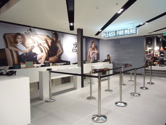 Opening Times for Topshop Jam Factory Chapel Street Store in Melbourne:
