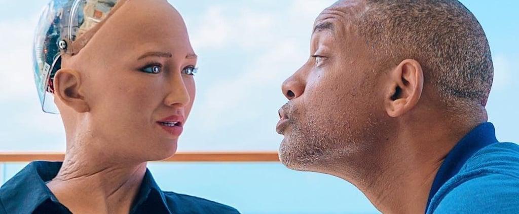 Will Smith Meets Saudi's Sophia the Robot