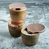 Wood and Copper Salt Cellar