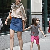 Katie Holmes and Suri Cruise walked hand-in-hand in NYC.