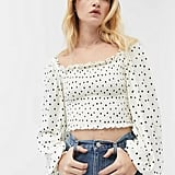Urban Outfitters Ryan Smocked Square Neck Top