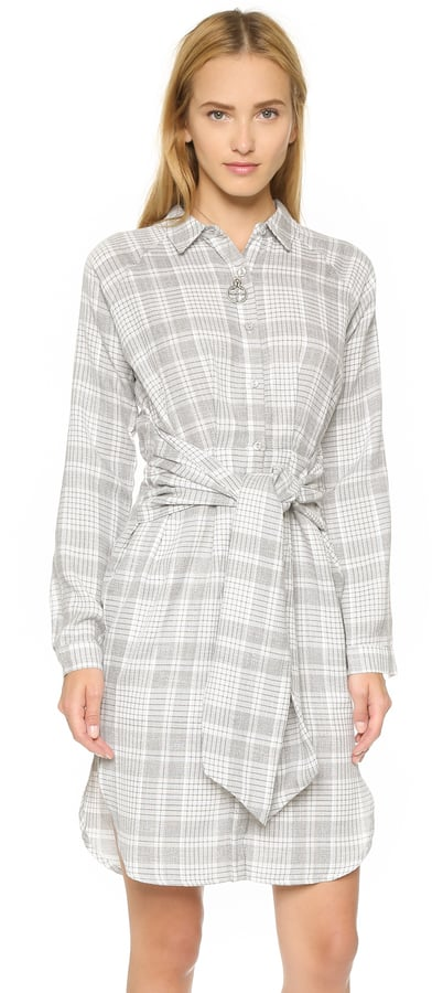 J.o.a. Plaid Tie Front Dress ($105)