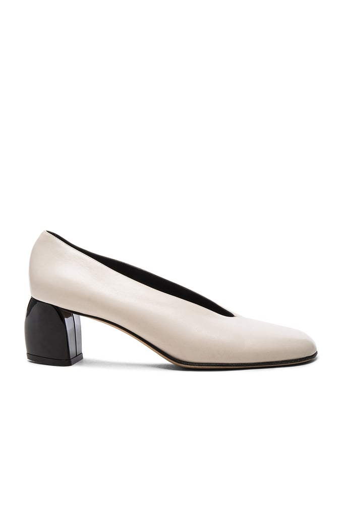 Tibi's Gene Heels ($495) achieve a colorblock effect all on their own.