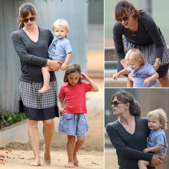 Jennifer Garner and Her Kids at the Playground   Pictures