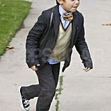 Kingston Rossdale dressed up for the holiday.
