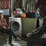 """The Middle Frankie (Patricia Heaton) and Mike (Neil Flynn) on The Middle's Halloween episode, """"Halloween IV: The Ghost Story,"""" airing Oct. 30."""