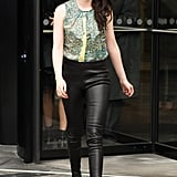 Kristen Stewart went to the Balenciaga presentation.