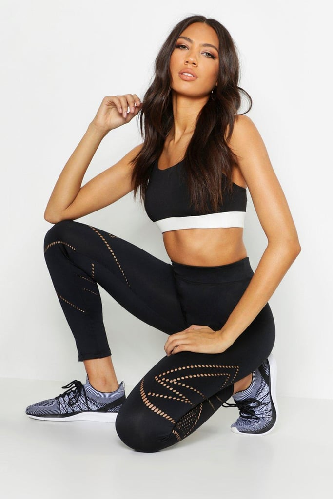 Boohoo Fit Laser Cut Running Leggings