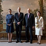 It was during a meeting with the king and queen of Norway that Kate first stepped out in her lace Séraphine dress.