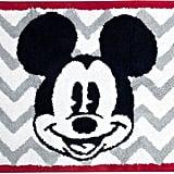 Chevron Mickey Mouse Bath Rug