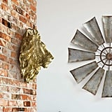 Wall Charmers Large Gold Faux Lion Head