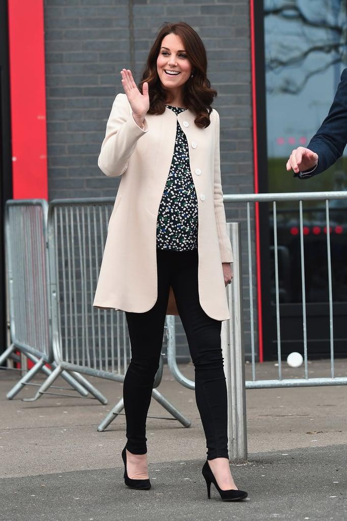 Kate Middleton Wearing Cream Goat Coat